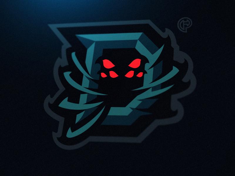 D + Spider (client work) esports letter d spider mascotlogo logo mascot