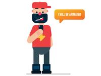 Flat Design Character Illustration in Illustrator