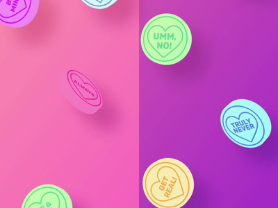 Be my Valentine valentines hearts love candy sweets loop gif animation