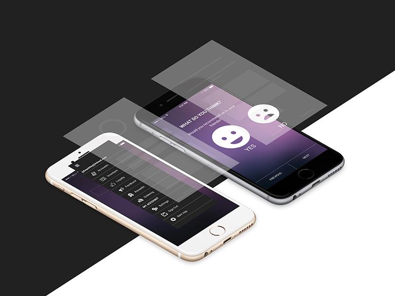 iPhone Wireframing app website web mobile ui ux wireframe