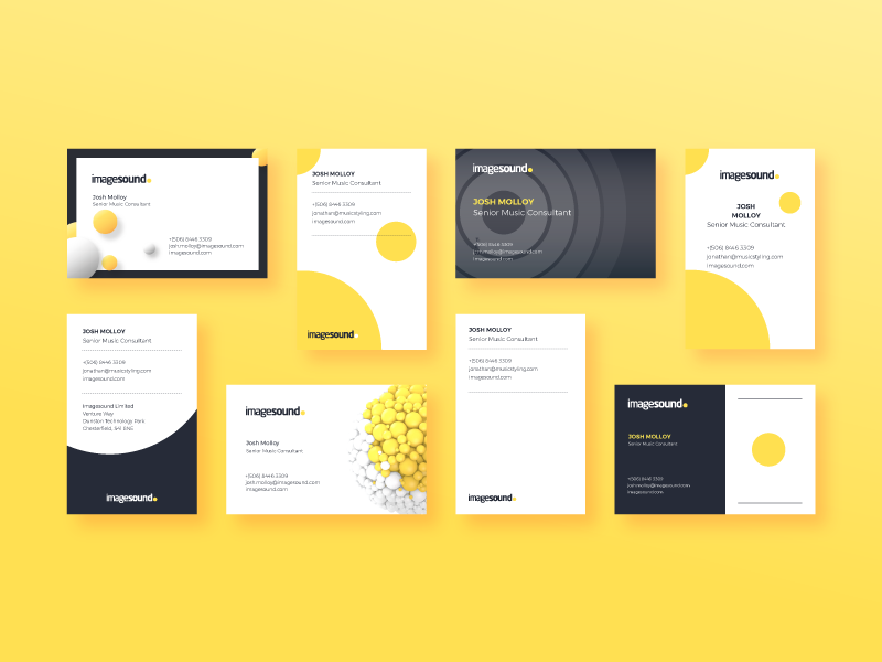 Business cards layout