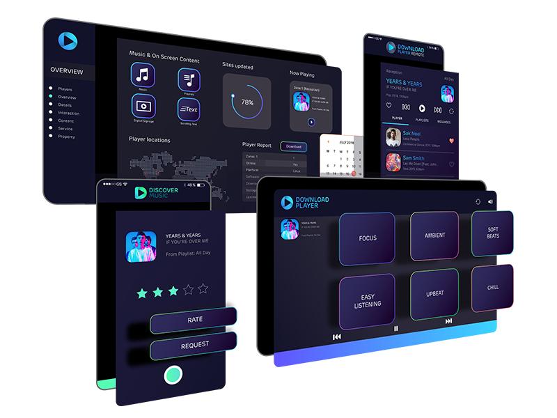 The Tech chart stats player music ux ui dashboard