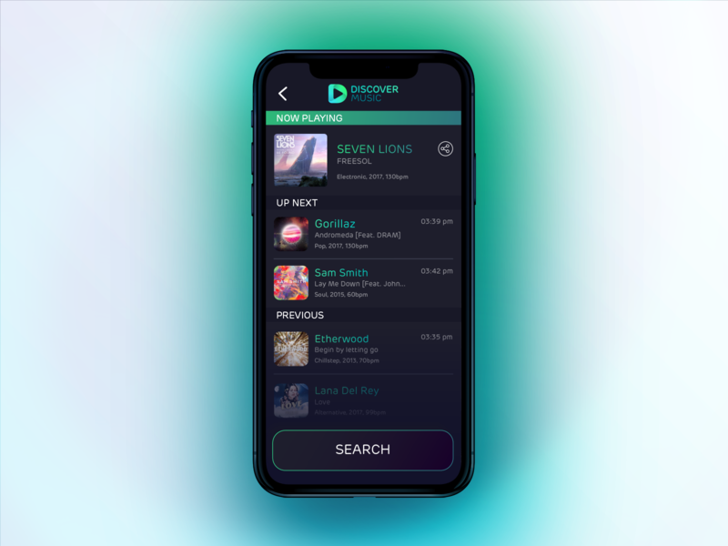 Discover Music - Default Theme ui app iphone music
