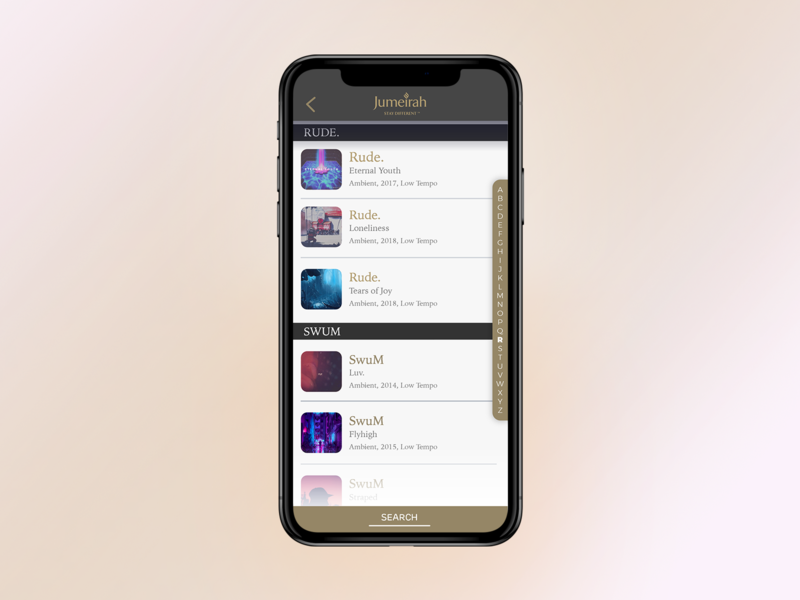Discover Music - Artist Selection media track app music ux ui phone