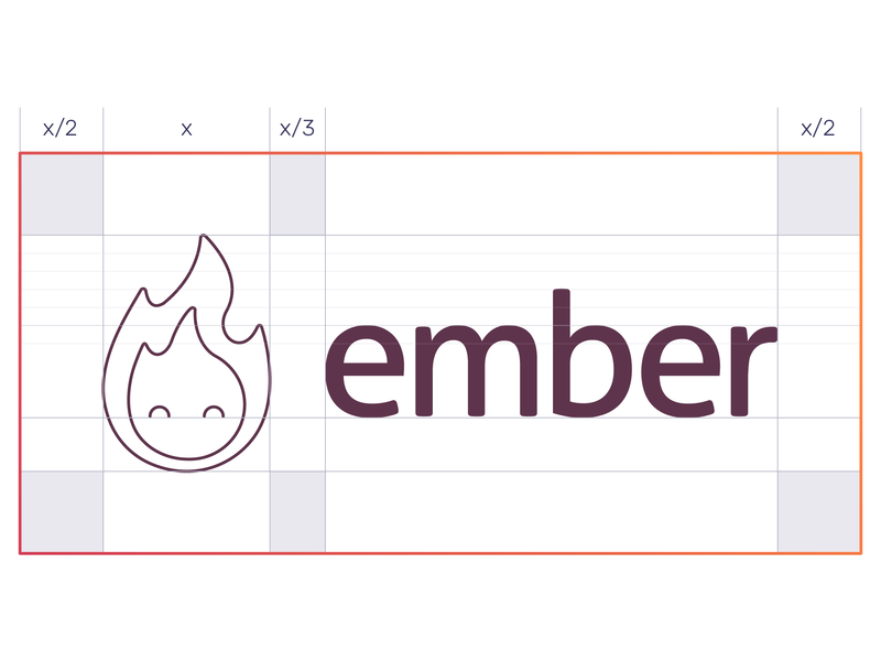 Ember Gaming Network icon ember fire flame branding logo grid network game gaming