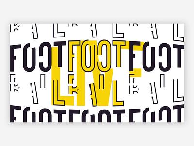 Football Fixtures - 1 / 2 ball flat typography text animation live sport football