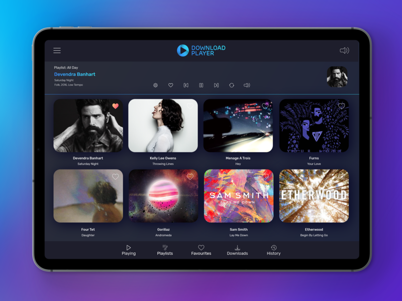 Music Player music player ipad tablet ui player music