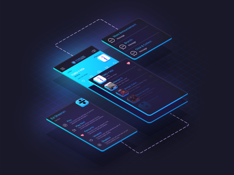 Download Player Remote - Isometric UI music app ux ui isometric