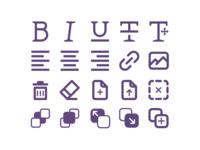 WYSIWYG - Icons