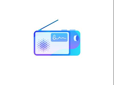 In-Store Radio gradient colour am fm radio icon