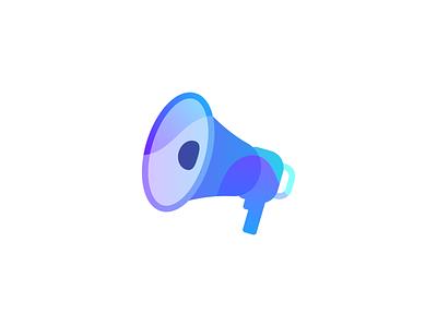 Messaging store megaphone colour volume speaker icon