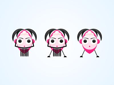 Beijing Opera Faces in Modern illustrator illustration face opera
