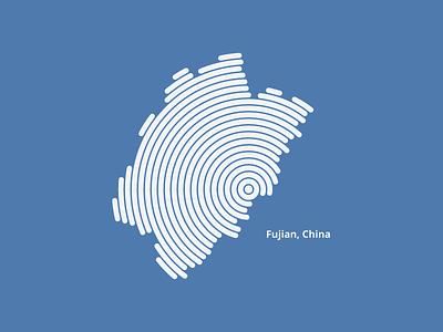Fujian China - intaglio intaglio rounded line
