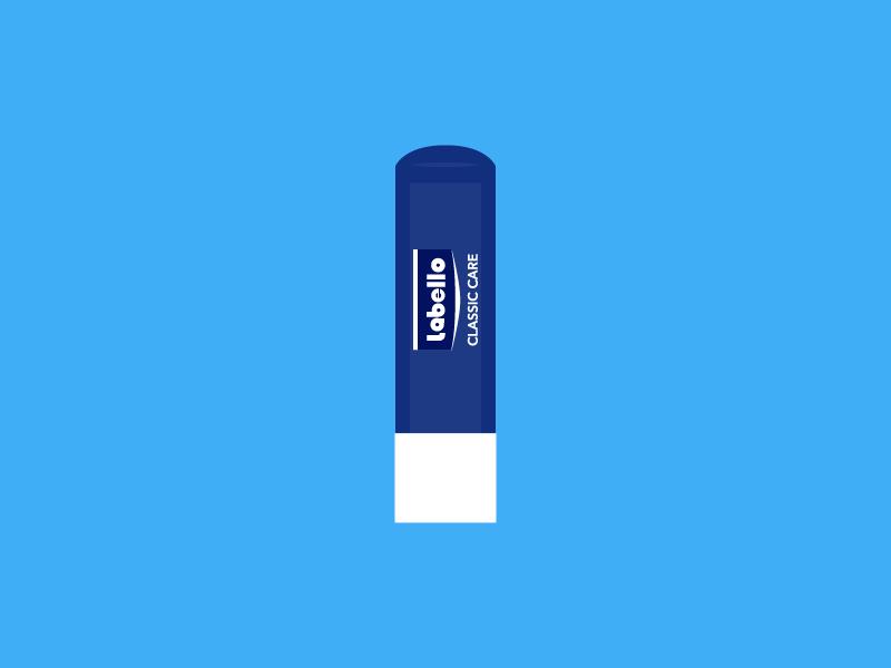Labello Lip Balm object lip balm illustration