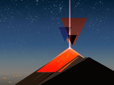 Fuego Volcano volcano illustration affinity designer