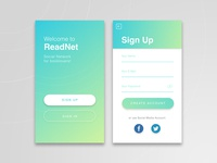 Daily UI #1 - Mobile Sign Up