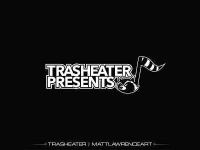 Trasheater Presents Logo iowa des moines vector illustrator branding promotion music raccoon logo design logo