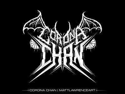 Corona Chan Death Metal Logo covid-19 corona virus logotype logo branding tech cyber black metal death metal