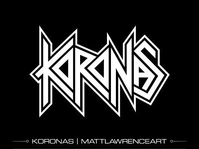 Koronas Thrash Metal Logo logotype branding logo design logo heavy metal metal speed metal thrash metal thrash