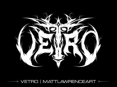 Vetro Black Metal Band Logo logotype design music band logo death metal branding goblin orc black metal logotype logo