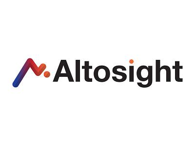 Altosight software marketing ecommerce mountains growth abstract logos logo altosight