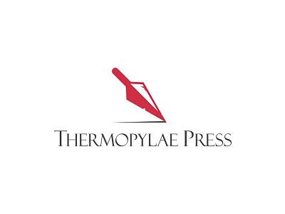 Thermopylae Press Logo publishing illustrator design spartan spear vector logos logo