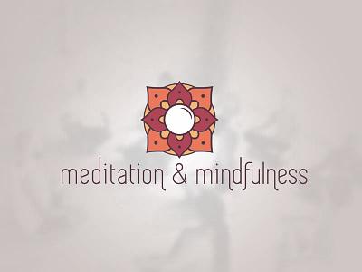 Meditation And Mindfulness Club Logo mandala lotus branding logos logo yoga mindfulness meditate meditation