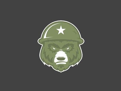 Military Bear Logo logos logo helmet bears bear armed forces marines army military