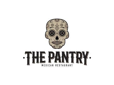 The Pantry Mexican Restaurant mexican restaurant mexican western sugar skull skull restaurant vector graphic design design logos logo