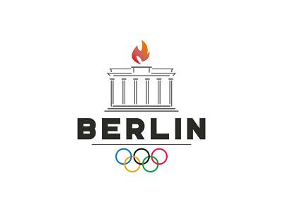 Berlin Olympics Logo olympic olympics berlin germany graphic design design logos logo