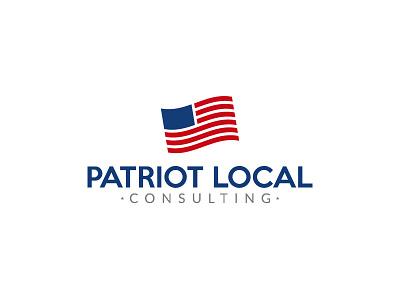 Patriot Local Consulting Logo vector illustrator branding logo consulting american flag patriot america