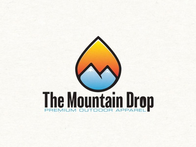 The Mountain Drop Premium Outdoor Apparel vector branding logo clothing apparel outdoor water drop mountains