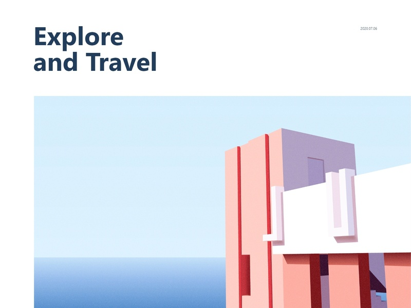 Explore_and_Travel building travel illustration