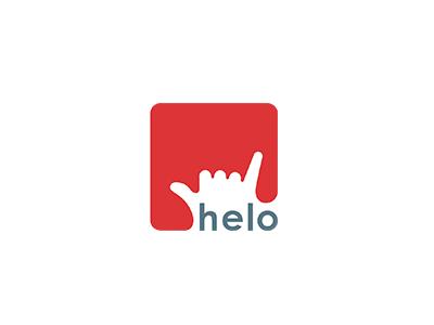 Helo red logo marketing helo