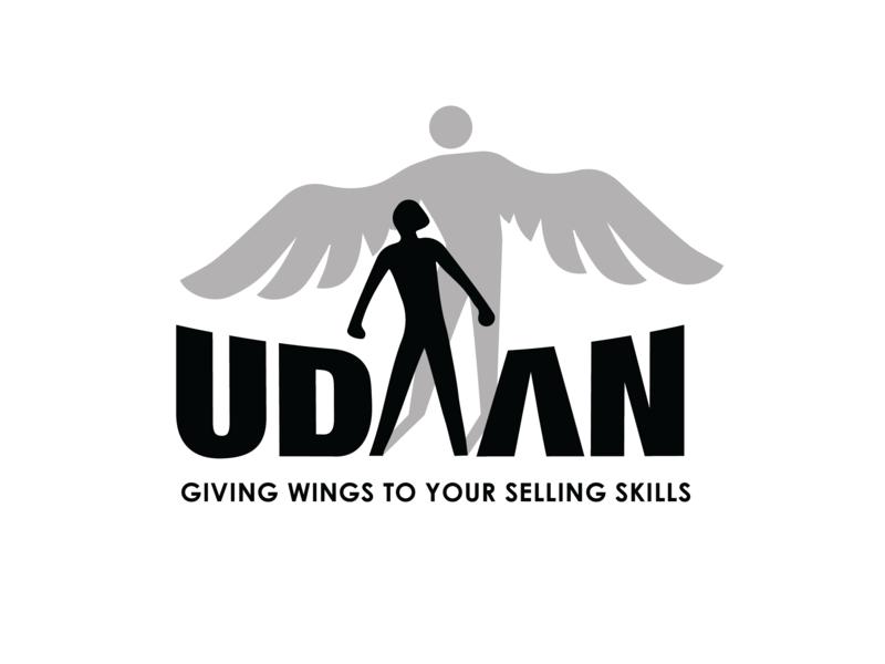 Udaan Logo phoenix rise wings skills fly