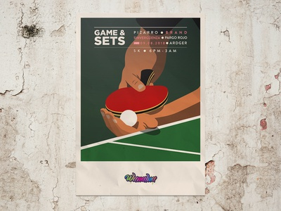 Game and Sets - Posters party party flyer lineup ping pong arts concert design poster acid house colombia vector illustration electronicmusic