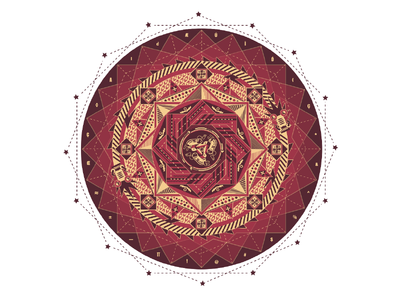 Caisson Pattern 1 graphic design chinese culture caisson dunhuang tradition pattern