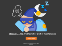 Website maintenance Page