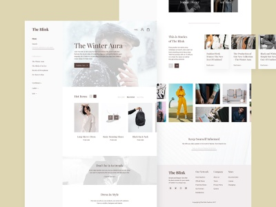 The Blink - Fashion Website ecommerce elegant clothing fashion web design webdesign web ui  ux ui design typography ux branding figma ui design clean
