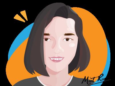 Self-Portrait illustration