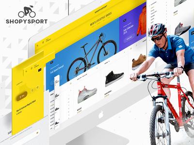 Shopysport Website UI/UX Design modern sports inspiration material mockup userexperience userinterface ux ui design web website