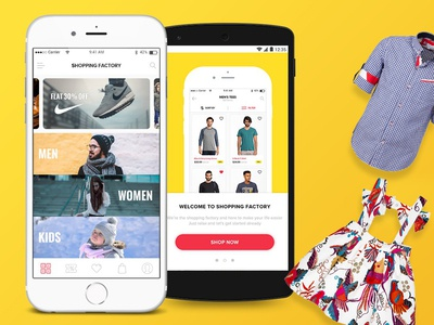 Shopping Mobile Application UI & User Experience Design fashion shopping wireframe interface ui ux design application mobile iphone ios android