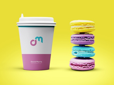 Graphic Mockup Design for Upcoming Brand drink restaurant design graphic creative branddesign cafe smoothy purple yellow branding cup