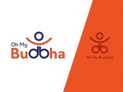 Oh My Buddha BrandLogo Design professional creative customlogo 2d blue orange graphical brandingidentity brand logodesign buddha