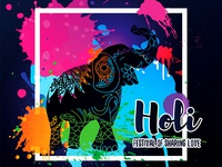 Happy Holi Greeting Design