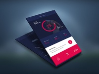 iPhone Fitness Mobile Application UI/UX Design wireframe ux ui prototype mockup iphone ios interface gym fitness design dashboard
