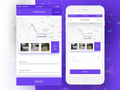 iOS Mobile App UI/UX Design prototype wireframe tracker location map userexperience ux ui interface app iphone ios