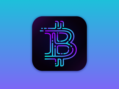 Daily UI Challenge #005 #bitcoin #appicon #app mobileapp vector trends interface ux ui webdesign icon app cryptocurrency appicon bitcoin