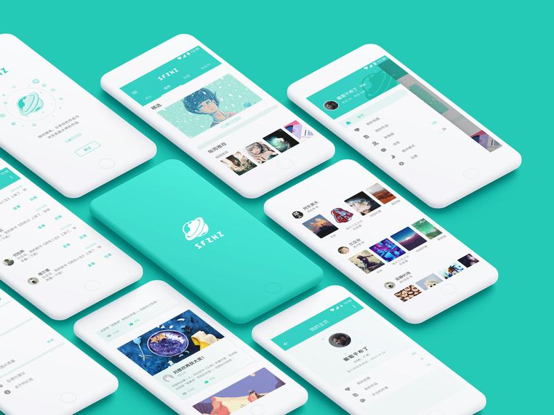 SFZHI App Concept ux clean app clean concept app logo illustration material design ui design