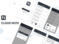 App UI Design - Cloud Note